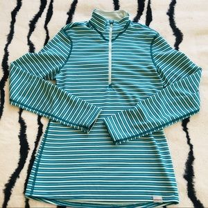 Patagonia Midweight Polartec 1/4 Zip Striped Shirt